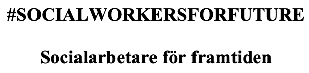 Länk till Facebook #Socialworkersforfuture